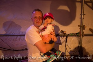 My 1 & 1/2 year old daughter Amberlilly with Deekline on stage with me at Glastonbury 2015 Ed Solo & Deekline Shangri La Heaven Stage