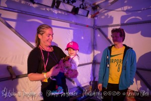 My 1 & 1/2 year old daughter on stage with me at Glastonbury 2015 Ed Solo & Deekline Shangri La Heaven Stage