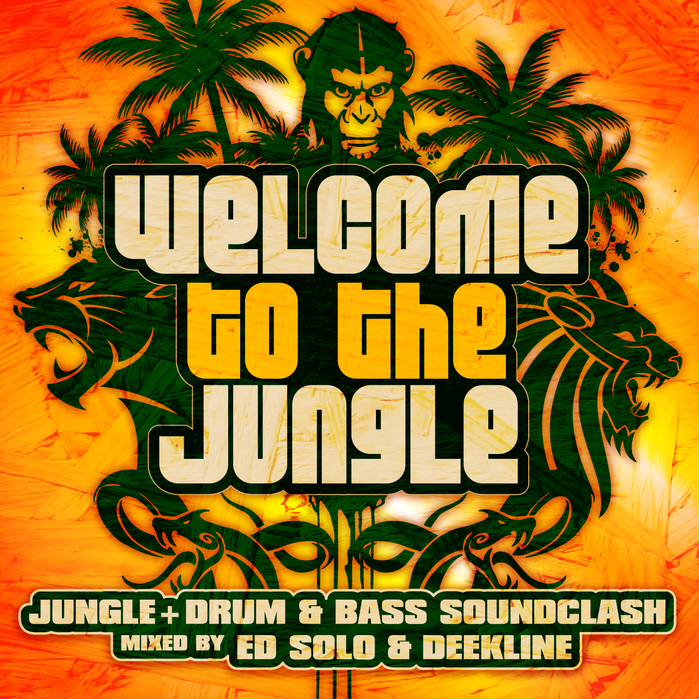 "Ed Solo & Deekline ""Welcome To The Jungle"" Vol 1 - Ragga Jungle Drum And Bass Compilation"