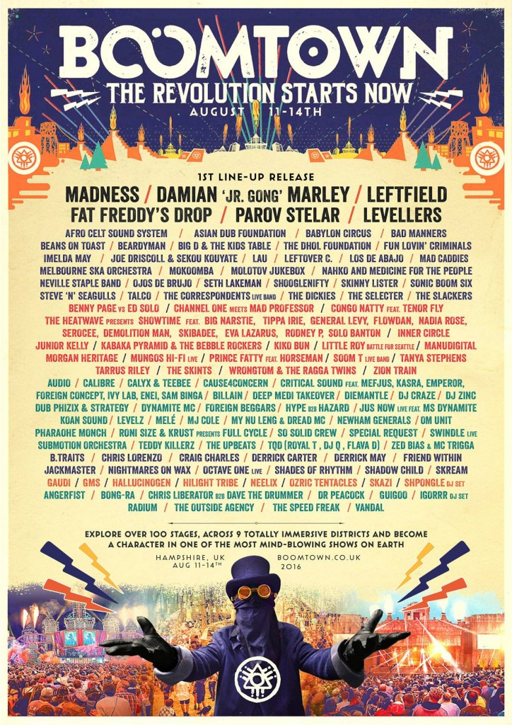 Boomtown 2016 line up